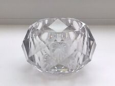Antique Round Clear Glass Pot Tealight Candle Holder