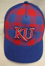 b298f18694589 Kansas Jayhawks Womens New Era Plaid Umpire Hat