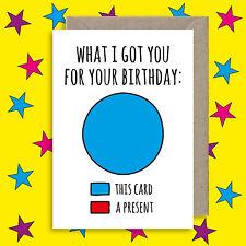 Funny Birthday Card - Cheeky Rude Joke Birthday Card - Humour Birthday Gift Card