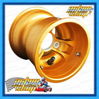 "GO KART MAGNESIUM WHEEL 5"" x 130 MM WIDE LOW VOLUME GOLD BOLT ON GT RIM NEW"
