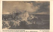 BR099923 nottingham castle in the 17th century painting postcard henry dawson uk