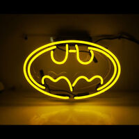 "14""x9""Batman Neon Sign Light Beer Bar Pub Home Home Game Room Wall Decor Gift"