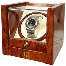 Time Tutelary Watch Winder KA079 For 1x Single Automatic Watche - Burl Finish