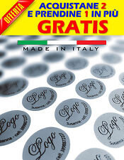 100 Etichette adesive bollini personalizzate 36X26 MM - Colore argento, oro