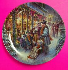 Stewart Sherwood Window Shopping Limited Edition 1993 Victorian Christmas Plate