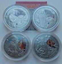 Belarus Weißrussland SET 4 x 20 rubles 2009 Musketeers  silver  box COA