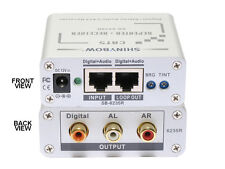 Composite + Digital Analog Audio Extender Receiver + Repeater over CAT5 SB-6235R