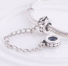CATENA di sicurezza Stopper Genuine 925 Sterling Silver Charm Si Adatta a Bracciale Europeo