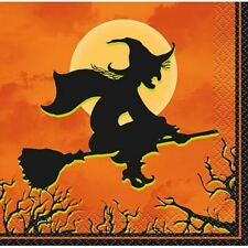 Haunted House Halloween Witch 24 Ct Beverage Cocktail Napkins