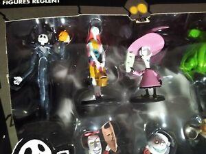 Disney Store Tim Burton NIGHTMARE BEFORE CHRISTMAS 7 Figurine Play Set figure