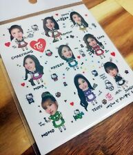 TWICE Character Sticker Photo Transparent Postcard Dahyun Tzuyu MOMO SANA Stand