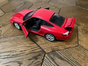 Hot Wheels Mattel 2003 Porsche GT3 Red Die-cast Scale Model 1/18