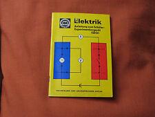 DDR Schulbuch Elektrik v.1973