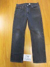 used Levi 505 feather black jean tag 38x32 meas 36x32 jean zip15339