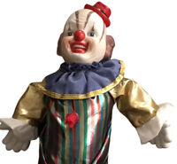 Vintage Porcelain Clown Doll 15 Inches Of Cute And CREEPY! Vintage Circus Joker