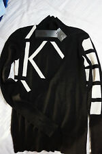 New Estelle Mock Neck sweater by Karl Lagerfeld small wool/cashmere woman
