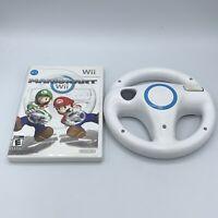 Mario Kart Wii (Nintendo Wii, 2008) With Manual & OEM Steering Wheel Tested