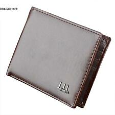 new Mens Leather Wallet Pocket Card Coin Pocket Card Holder Clutch Bifold Purse