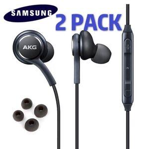 2 PACK Samsung Galaxy Note S9 S8 S10+S7S6 Plus AKG Earphones Headphones Earbuds