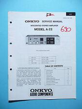 Service Manual für Onkyo A-22,ORIGINAL