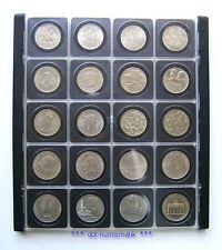 DDR 10+20 Mark-Sammlung__20 versch., 1971-1990 *** in DDR-Kassette !