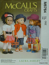 "McCall's 6764 Sewing PATTERN for 18"" American Girl DOLL CLOTHES & ACCESSORIES"