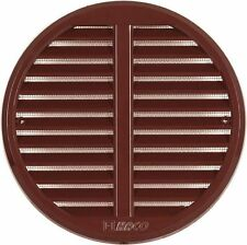 Circle Air Vent Grille Cover Ø140mm BROWN Adjustable 75 to 125mm Ducting