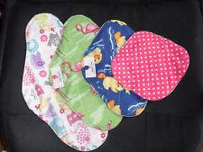 Remnant mix ~ 4 Cloth Menstrual Mama Pads 7, 10, 12 &14in W/ PUL