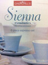 ☕️Churchill's Sienna Ceramic Expresso Set - Light Blue (set of 6).