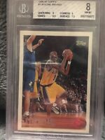 1996 Topps  Kobe Bryant rookie RC card # 138  bgs 8 subs 8, 9 , 9.5 , 7.5