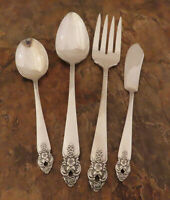 Oneida Distinction 4 Serving Pieces Prestige Vintage Silverplate Flatware Lt M
