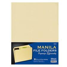 13 Cut Letter Size Manila File Folder 9pack