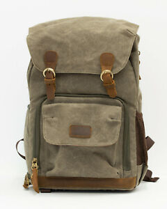 Water Resistant Canvas Backpack for Camera - built in camera cube with padding!