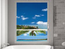 Fensterfolie Sichtschutzfolie Badezimmer Palme Urlaub Badfenster Dusche Tür