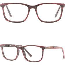 Square Red Mens Womens Acetate Frame Rectangular Glasses Eyeglasses Spring Hinge