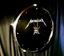 ****METALLICA**** upcycled Drum Clock