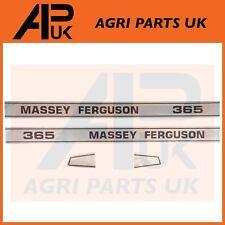 Massey Ferguson 365 Tractor Bonnet lado Calcomanía Pegatinas Transferencias Set Kit