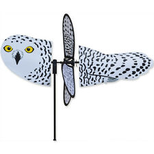 "Snowy Owl Petite Garden Stake Wind Spinner by Premier Kites & Designs-18"""