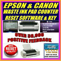 EPSON  ALL PRINTER MODELS WASTE INK PAD COUNTER ERROR RESET INC WIC KEY DOWNLOAD