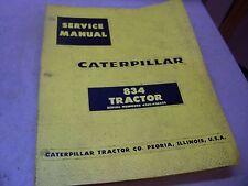 CAT CATERPILLAR SERVICE MANUAL 834 TRACTOR SERIAL NUMBER 43E1-43E422