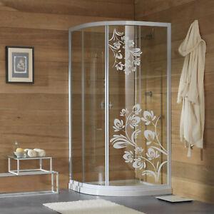 wall stickers adesivo murale fiori vetri box doccia decorazione arredo bagno