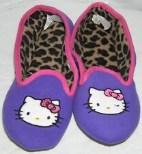 Hello Kitty Slippers PURPLE FREE USA SHIPPING LADIES LARGE 9-10