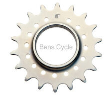 "MR Control TRST Track Cog 18T Fixed Gear CrMo Cyclists' Choice Silver 3/32"" NEW"