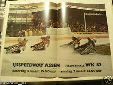 A283-IJSSPEEDWAY ASSEN WK 1982 HALVE FINALE ICE SPEEDWAY MOTO POSTER 6/7-3