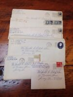Vintage 1963 Lot of Letters Home Luray Virginia Ft Worth Texas George Fitch