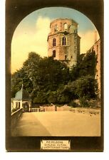 Schloss Altan-Chateau-Octagon Tower-Heidelberg-Germany-Vintage Postcard