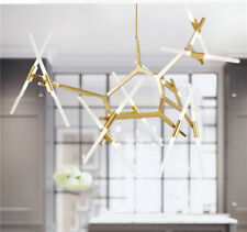 Glass Tube Suspension Tree Branches Chandelier Hanging LED Pendant Lamp Lights