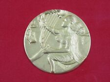 Salvador Dali Opera the Music Bas-Relief a Embossed Golden 55 MM