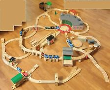Learning Curve Thomas The Train Wood Railroad Set Quarry Roundhouse Lot Engines