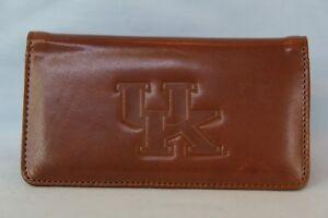 KENTUCKY WILDCATS      Leather Checkbook   NEW   brown +